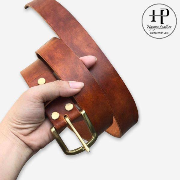 thắt lưng nam da bò cao cấp handmade
